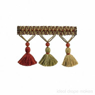 IDM_BI100 _10 'Persian' | Fringe, Curtain & Upholstery Trim - Beige, Gold - Yellow, Green, Red, Red, Traditional, Tan - Taupe, Domestic Use