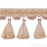 IDM - Classic Windsor Tassel Fringe 10304_8008 Pale Gold  | Fringe, Curtain & Upholstery Trim - Gold,  Yellow, Traditional, Domestic Use