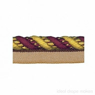 IDM - Amazonas Flanged Cord  1011_1513  Burgundy & Gold  | Flange Cord, Trim - Burgundy, Gold,  Yellow, Tan, Taupe, Traditional, Domestic Use, Dry Clean