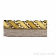 IDM - Amazonas Flanged Cord  1011_1515  Gold  | Flange Cord, Trim - Gold,  Yellow, Tan, Taupe, Traditional, Domestic Use, Dry Clean