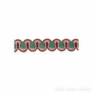 Green, Cream & Burgandy' | Gimps & Braids, Curtain & Upholstery Trim - Burgundy, Green, White, Traditional, White, Domestic Use