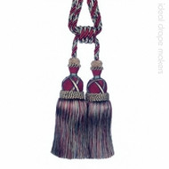 Garnet' | Key Tassel, Curtain & Upholstery, Trim - Burgundy, Gold - Yellow, Green, Traditional, Domestic Use