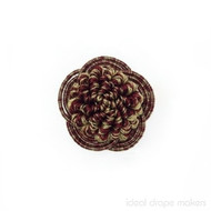 IDM - Botticelli Rosette  2060F _7391 Camelot    Rosette, Curtain & Upholstery, Trim - Beige, Red, Traditional, Domestic Use