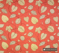 jd_10795-102 'Rouge' | Curtain & Upholstery fabric - Stain Repellent, Red, Craftsman, Floral, Garden, Jacobean, Midcentury, Natural fibre, Red, Traditional, Domestic Use