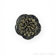 Tigress' | Rosette, Curtain & Upholstery, Trim - Black, Gold - Yellow, Traditional, Black - Charcoal, Domestic Use