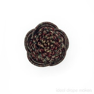 IDM - Botticelli Rosette 2060F _242 Turin    Rosette, Curtain & Upholstery, Trim - Burgundy, Gold,  Yellow, Traditional, Domestic Use