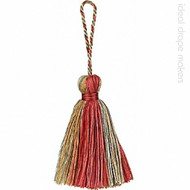 IDM - Amazonas Key Tassel  3308-00 _1529 Green,Pink & Gold  | Key Tassel, Curtain & Upholstery, Trim - Gold,  Yellow, Green, Pink, Purple, Traditional, Domestic Use, Dry Clean