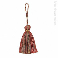 Terracotta & Gold' | Key Tassel, Curtain & Upholstery, Trim - Gold - Yellow, Terracotta, Traditional, Domestic Use