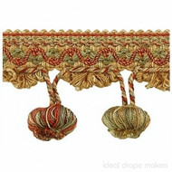 IDM_1827_1511 'Eye' | Fringe, Curtain & Upholstery Trim - Burgundy, Gold - Yellow, Green, Traditional, Tan - Taupe, Domestic Use