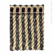 IDM_1656_1519 'Black & Beige' | Fringe, Curtain & Upholstery Trim - Beige, Black, Traditional, Black - Charcoal, Domestic Use