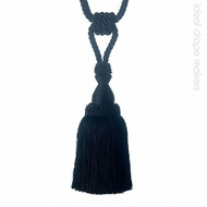 IDM - Classic Tie Back 3387-10 _8050 Black    Tie back, Curtain Accessory - Black - Charcoal, Traditional, Domestic Use