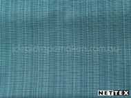 Lagoon' | Curtain Fabric - Blue, Plain, Silver, Fiber blend, Uncoated, Turquoise, Teal, Domestic Use