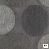 JW Design - Cabaret Silver Sheer 300cm  | Curtain Sheer Fabric - Fire Retardant, Silver, Contemporary, Modern, Organic, Pattern, Synthetic, Washable, Domestic Use, Circles