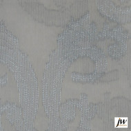 JW Design - Intrigue Azure Sheer 300cm  | Curtain Sheer Fabric - Fire Retardant, Grey, Modern, Pattern, Synthetic, Traditional, Transitional, Washable, Domestic Use