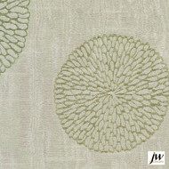 JW Design - Coco Spring Uncoated 140cm  | Curtain Fabric - Fire Retardant, Green, Contemporary, Modern, Pattern, Synthetic, Tan, Taupe, Transitional, Uncoated, Washable