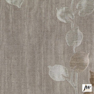 JW Design - Camille Linen Uncoated 140cm  | Curtain Fabric - Fire Retardant, Grey, Contemporary, Floral, Garden, Pattern, Synthetic, Uncoated, Washable, Domestic Use