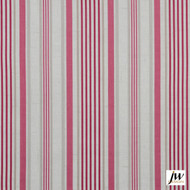 JW Design - Dreamline Raspberry Uncoated 137cm  | Curtain & Upholstery fabric - Natural fibre, Pattern, Pink, Purple, Stripe, Traditional, Uncoated, Washable, Domestic Use, Natural, Print