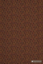 James Dunlop Atlanta - Earth  | Upholstery Fabric - Stain Repellent, Brown, Fire Retardant, Fibre Blends, Geometric, Small Scale, Bacteria Resistant, Commercial Use, Circles