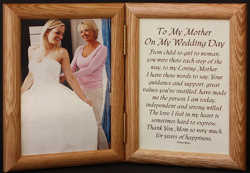 5x7 hinged to my mother on my wedding day poem lightmedium photo frame - Mother Of The Bride Picture Frame
