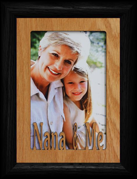 5x7 nana me portrait black picture frame holds a 4x6 or cropped 5x7 photo - Nana Picture Frame