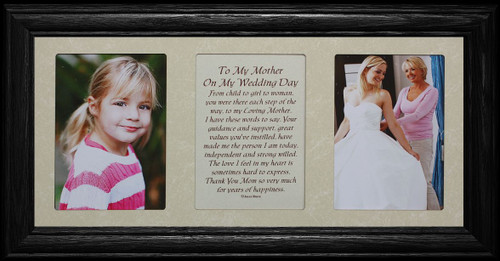 7x15 To My Mother On My Wedding Day Poetry Amp Photo Black