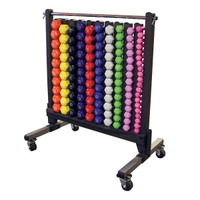 Body Solid Commercial vinyl dumbbell, Dumbbell Rack
