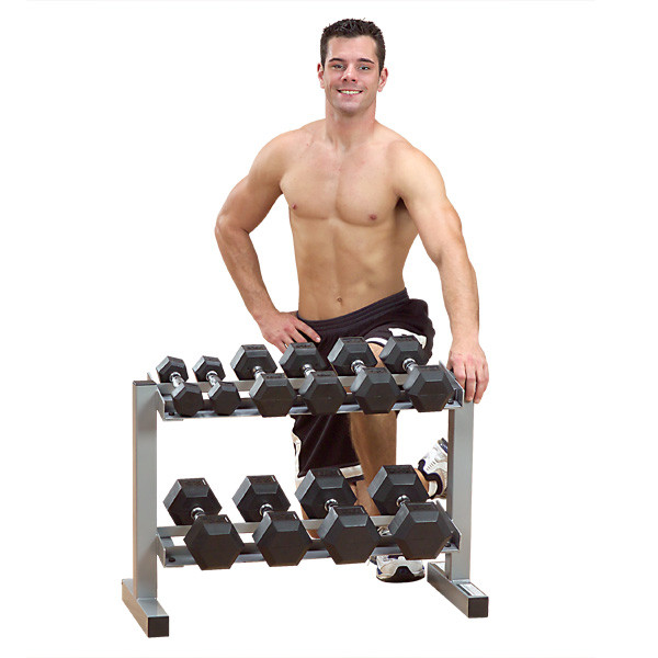 "Dumbbell Set Big 5: Body Solid Powerline 32"" Dumbbell Rack"