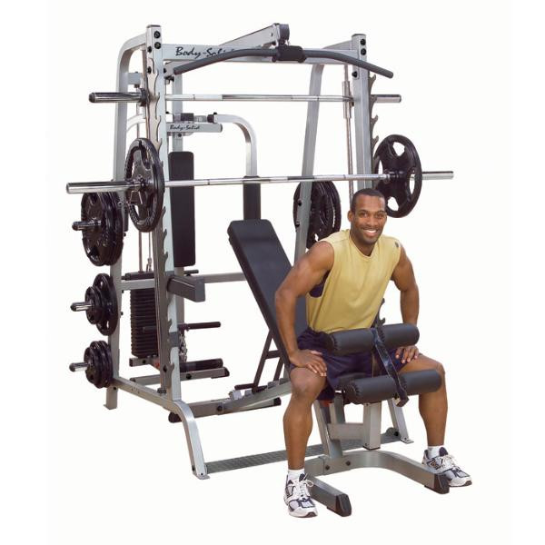 Body Solid Series 7 Smith Gym System w/ F.I.D. Bench (GS348QP4)