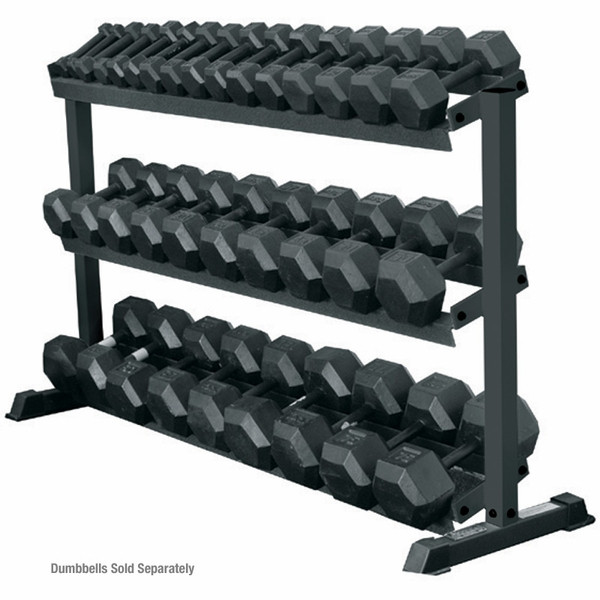 York Dumbbell Exercise Programme: York Barbell 3-Tier Pro-Hex Dumbbell Rack For Sale