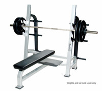 York Olympic Flat Bench with Gun Racks (Commercial)