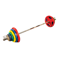 Colored Rubber Grip Olympic Sets