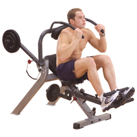 Body Solid Semi Recumbent Ab Bench