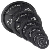 Body Solid 455 lbs Cast Olympic Set