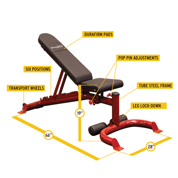 Body Solid Flat Incline Decline Bench Gfid100 For Sale