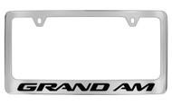 Pontiac Grand Am Block Letters License Plate Frame