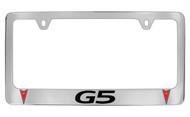 Pontiac G5 Block Letters License Plate Frame