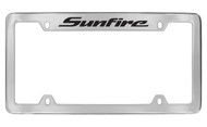 Pontiac Sunfire Top Engraved Chrome Plated Brass Black Imprint