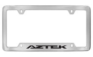 Pontiac Aztek Bottom Engraved Chrome Plated Brass Black Imprint