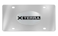 Nissan Xterra Chrome Plated Solid Brass Emblem Attached To a Stainless Steel Plate