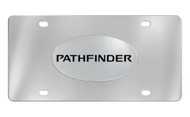 Nissan Pathfinder Chrome Plated Solid Brass Emblem Attached To a Stainless Steel Plate