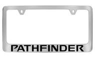 Nissan Pathfinder Official Chrome License Plate Frame Tag Holder
