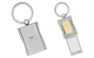 Mustang Photo Frame Keychain Embellished with Swarovski Crystals (FOKCYF300-E)