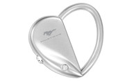 Mustang Heart / Oval Interchangeable Shape Keychain Embellished with Swarovski Crystals