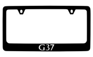 Infiniti G37 Black Coated Zinc License Plate Frame Holder with Silver Imprint