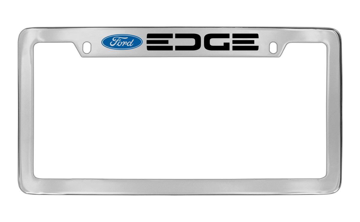 Ford Edge with Logo Top Engraved Chrome Plated Solid Brass License ...