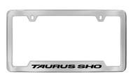 Ford Taurus Sho Bottom Engraved Chrome Plated Solid Brass License Plate Frame Holder with Black Imprint