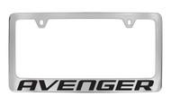 Dodge Avenger Block Letters License Plate Frame Tag Holder with Black Imprint