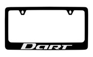 Dodge Dart Black Coated Zinc License Plate Frame Holder with Silver Imprint