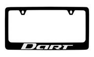Dodge Dart Black Coated Zinc License Plate Frame Holder with Silver Imprint