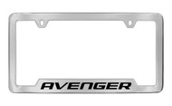 Dodge Avenger Chrome Plated Solid Brass Bottom Engraved License Plate Frame Holder with Black Imprint